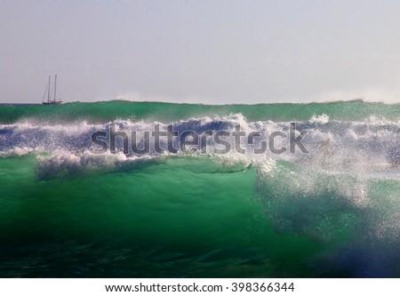 Indian ocean - stock photo