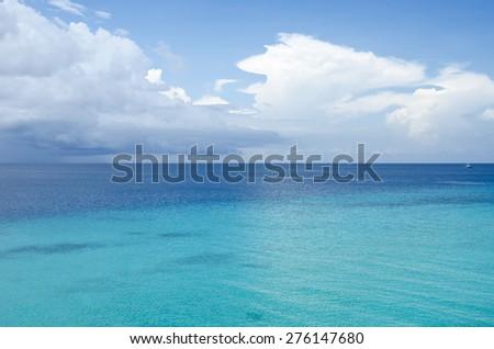 Indian ocean. Clouds over the sea. Zanzibar, Tanzania - stock photo