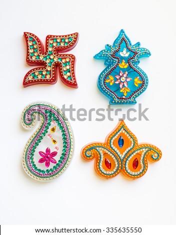 Indian Religious Symbols Motifs Various Shapes Stock Photo Edit Now