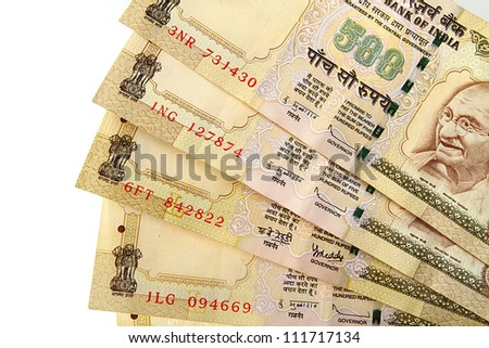 Indian rupee notes - stock photo