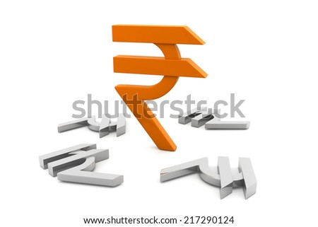 Indian rupee symbol - stock photo