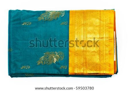 Indian silk saree - stock photo