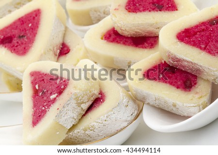 Indian special traditional sweets food Bangali Peda
