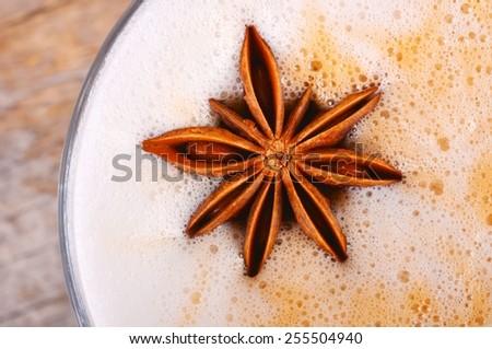Indian spicy chai tea latte - stock photo