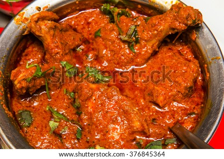 Indian spicy Curry called Chicken Masala  - stock photo