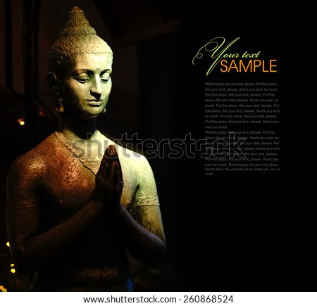 Indian statue - stock photo