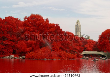 indian summer - stock photo