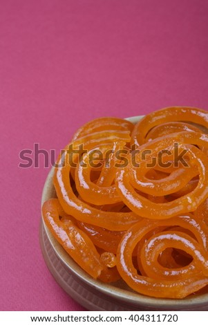 Indian sweet jalebi - stock photo