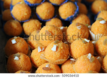 Indian sweets Laddu or Laddoo