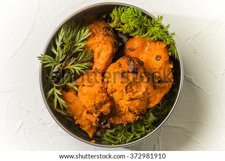 Indian Tandoori chicken - stock photo