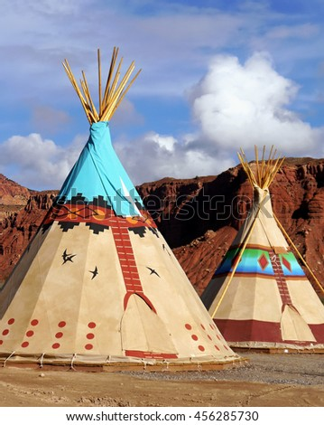 Indian tents decorated with ornaments. Near the city of Moab. Utah USA.  sc 1 st  Shutterstock & Indian Tent Stock Images Royalty-Free Images u0026 Vectors | Shutterstock