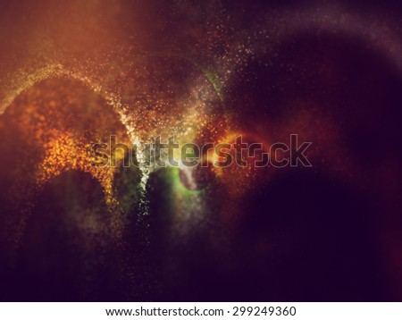 indian tricolors background formation by glowing particles - stock photo