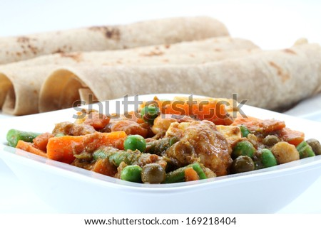 indian vegetable  curry - stock photo