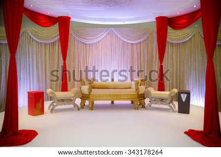 Indian Wedding Stage - stock photo