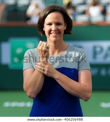INDIAN WELLS, UNITED STATES - MARCH 13 : Lindsay Davenport at the 2016 BNP Paribas Open Hall of Fame Ceremony - stock photo