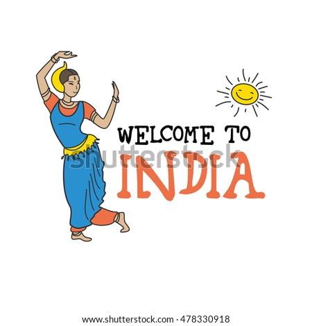 Indian welcome symbols