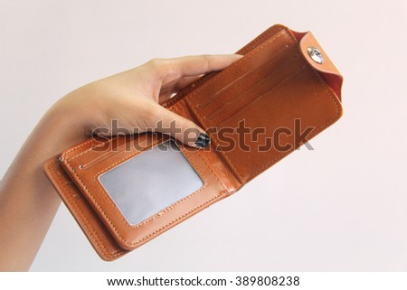 Indian woman hand holding wallet