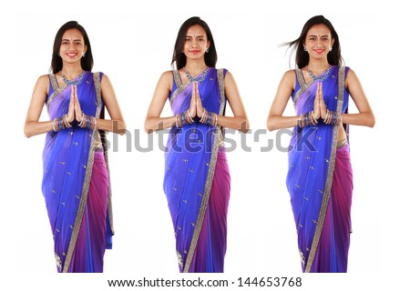 Indian woman in traditional clothing. - stock photo