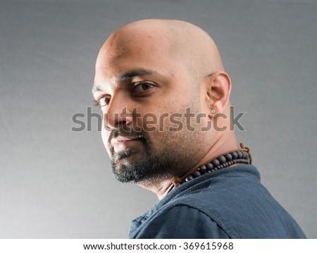 Indian young man closeup, Mumbai, Maharashtra, India, Southeast Asia - stock photo