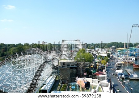Indiana Beach Amusement Park - stock photo