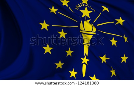 Indiana flag - USA state flags collection no_3 - stock photo