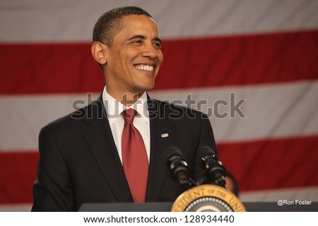 INDIANA, IND - MAY 17 : President Obama appeared in downtown Indianapolis, Indiana on May 17, 2009