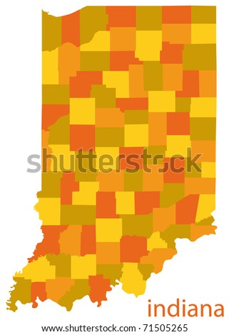 Indiana State Vector Map Stock Vector Shutterstock - Indiana state map