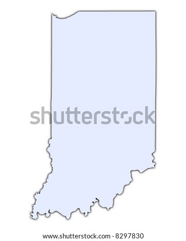 Map Indiana United States Stock Vector Shutterstock - Indiana us map