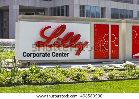 Indianapolis - Circa April 2016: Eli Lilly and Company World Headquarters. Lilly makes Medicines and Pharmaceuticals V