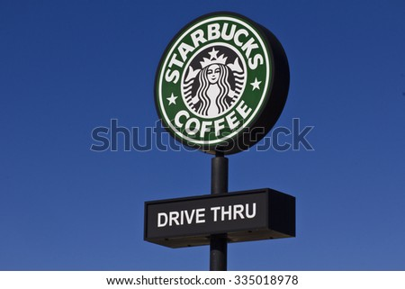 Indianapolis - Circa November 2015: Starbucks Retail Coffee Store. Starbucks is an American Retail Coffee Chain II - stock photo