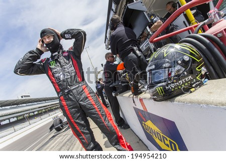 Indianapolis, IN - May 19, 2014:  Kurt Busch (26) takes to the track as he makes practice runs for the Indianapolis 500 IndyCar race in Indianapolis, IN.    - stock photo