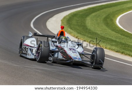 Indianapolis, IN - May 18, 2014:  Kurt Busch (26) takes to the track as he quaifies for the Indianapolis 500 IndyCar race in Indianapolis, IN.   - stock photo