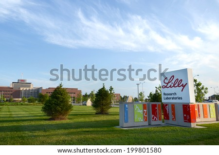 INDIANAPOLIS - JUNE 17:  Researchers at Lilly Research Laboratories, shown here on June 17, 2014, developed basal insulin peglispro, a diabetes molecule undergoing Phase 3 clinical trials.  - stock photo