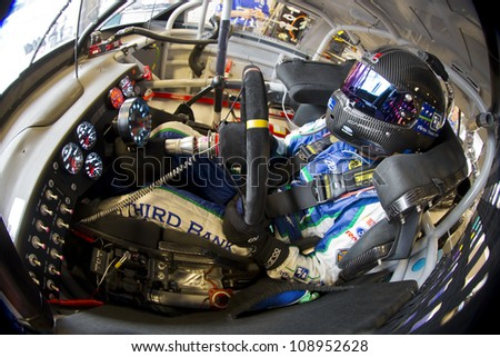 INDIANPOLIS, IN - JUL 28, 2012:  Matt Kenseth (17) and crew prepare their car for a practice session for the Curtiss Shaver 400 at the Indianapolis Motor Speedway in Indianapolis, IN on Jul 28, 2012. - stock photo