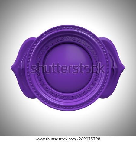 indigo Ajna third eye chakra base, 3d abstract symbol, isolated color design element  - stock photo