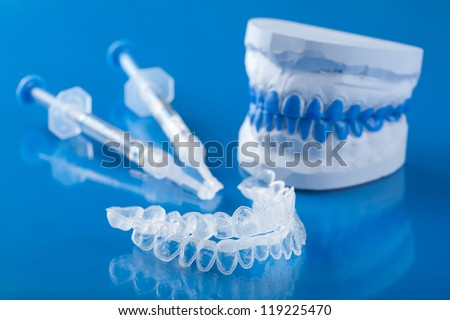 individual set for teeth whitening - stock photo