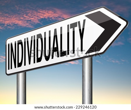 individuality individual freedom stand out from crowd being different having a unique personality be one of a kind and unique personal development and existence  - stock photo