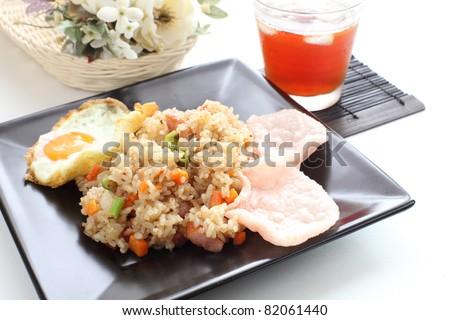 Indonasia cuisine, Nasi Goreng fried rice - stock photo