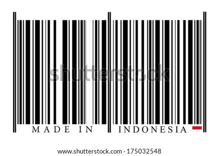 Indonesia Barcode on white background