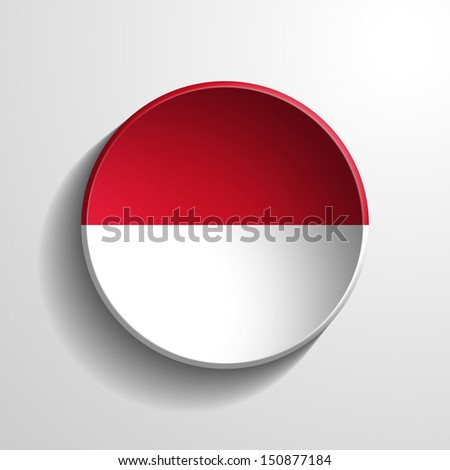 Indonesia 3d Round Button