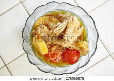 Indonesian chicken stew in a bowl - stock photo