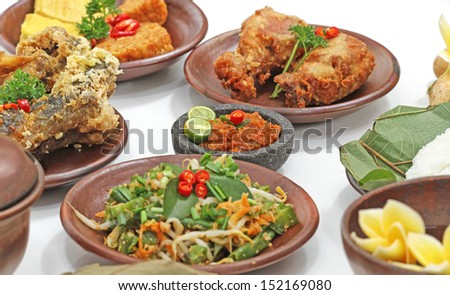 Indonesian cuisines and food - stock photo