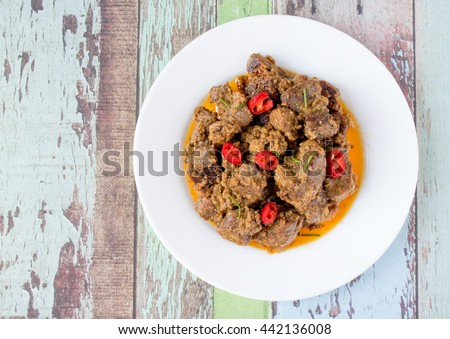 Indonesian Famous Food Beef Rendang