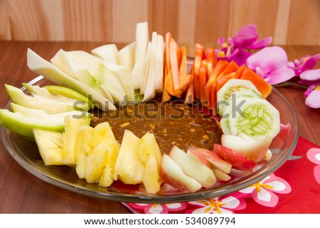 Makanan stock images royalty free images vectors shutterstock indonesian rujak indonesian mix fruits served on transparent plate on wooden background altavistaventures Image collections