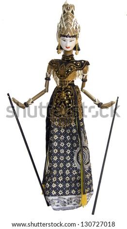 Indonesian Wayang Golek doll puppet - stock photo