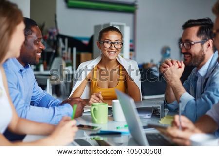 Indoor meeting - stock photo
