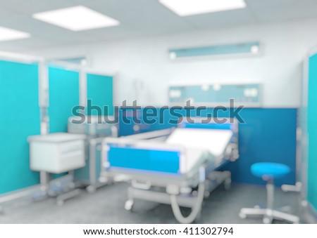 indoor of modern hospital blurred background - stock photo