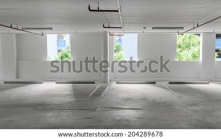Indoor parking lot  - stock photo