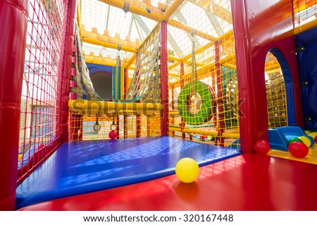Indoor playground for children  - stock photo