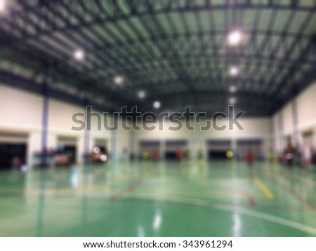 indoor soccer or futsol players in gym on competition tournament - stock photo